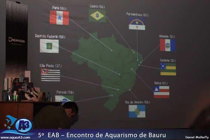 Os Estados Brasileiros que participaram do CBAP.