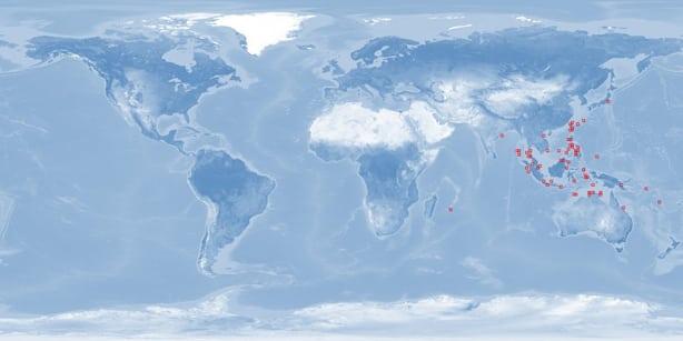 Distribuição Geográfica peixe palhaço