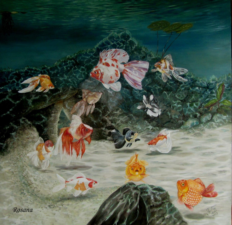 Arte no aquarismo - Lago de Kinguios