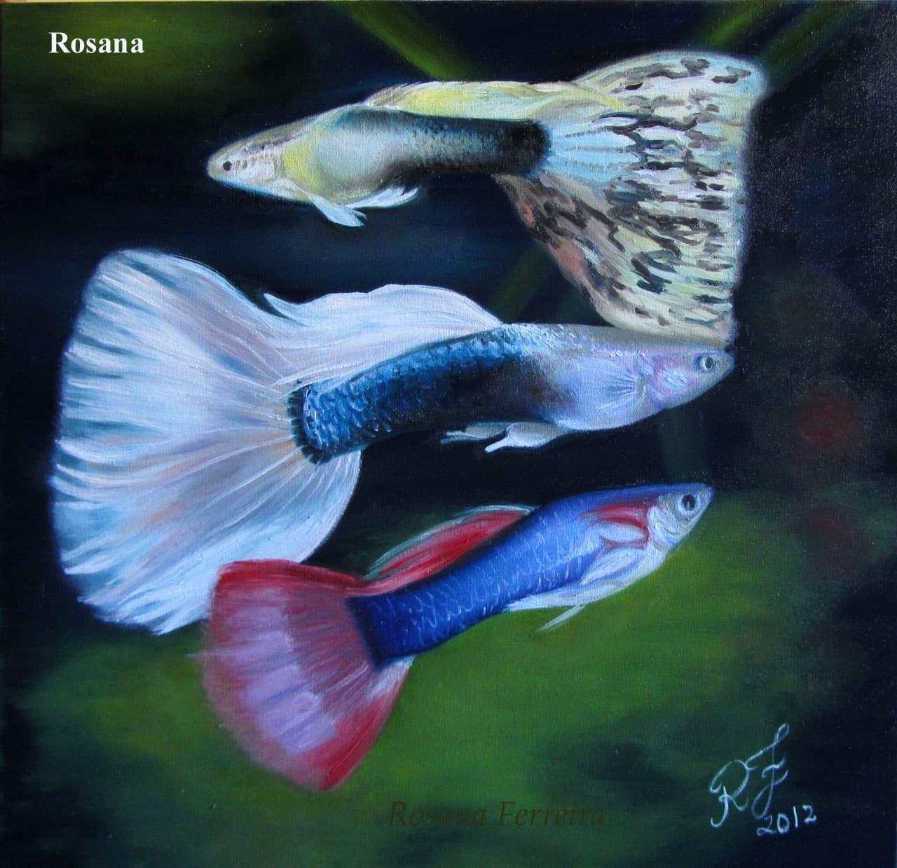 Arte no aquarismo - Lebistes
