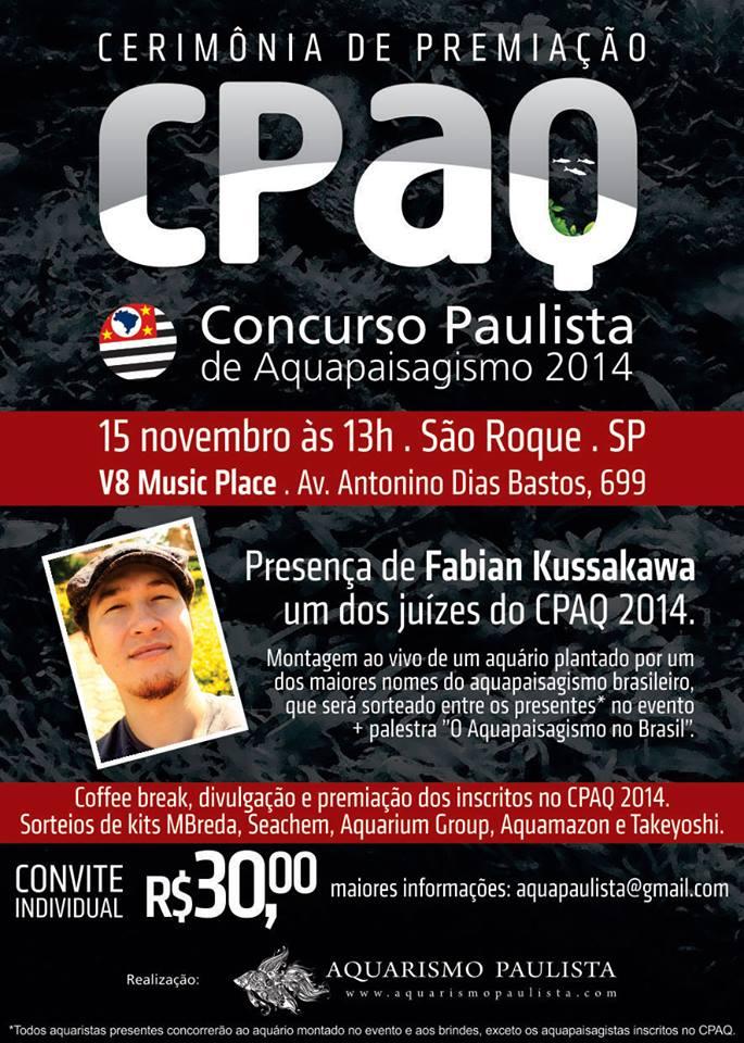 CPAQ - Concurso Paulista de Aquapaisagismo 2014