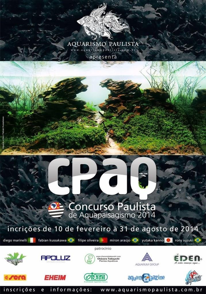 cartaz Concurso Paulista de Aquapaisagismo 2014