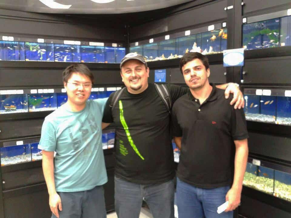 Marcelo Tono, Seiti (Melhor Peixe) e André Albuquerque