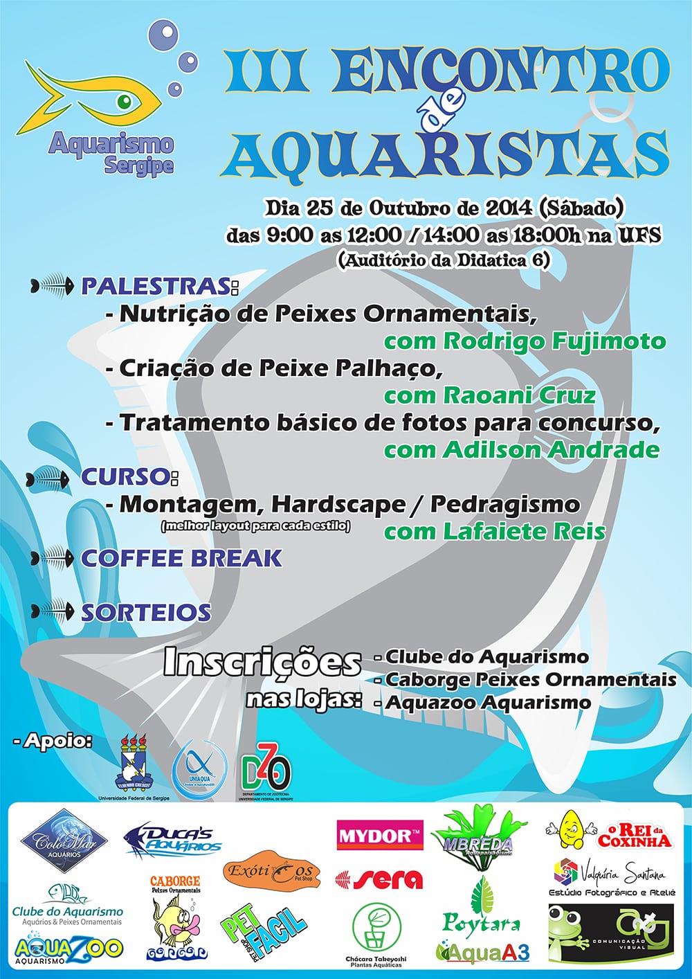 3º Encontro de Aquaristas em Sergipe
