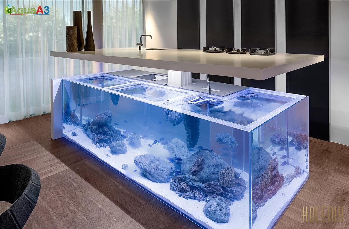 Ocean kitchen (Cozinha com aquário)