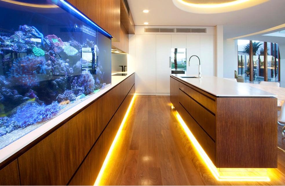 aquarium kitchen - Mark Gacesa (aquario na cozinha)