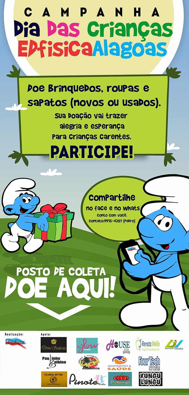 Campanha Dia das Crianças EdfisicaAlagoas