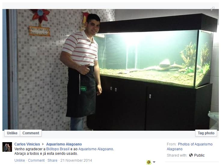 ganhador do Sorteio do Avental da loja Biótopo Brasil