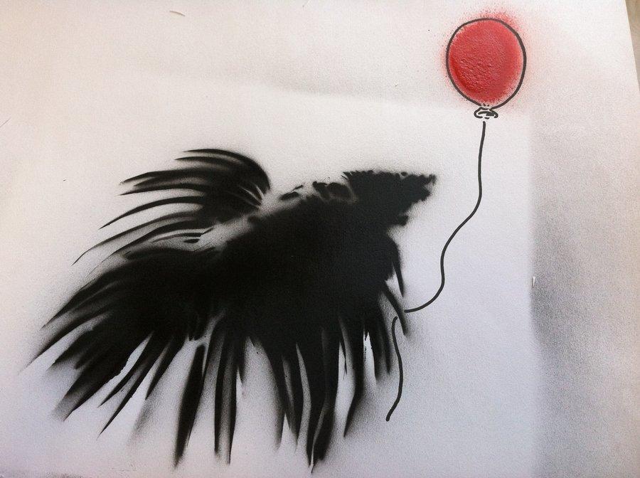 Apenas um peixinho Betta Stencil