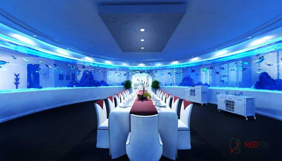 Red Fin Aquarium Design sala de jantar