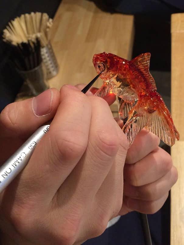 Pirulito de peixe japones