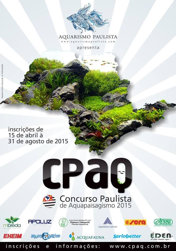 Cartaz CPAQ Concurso Paulista de Aquapaisagismo - 2015