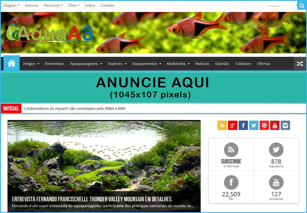 Anuncie no site AquaA3