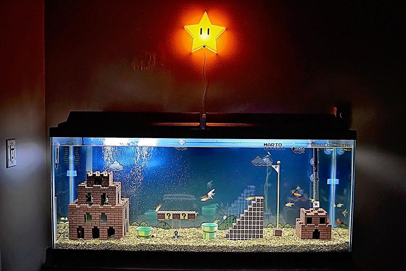 Aquário do Super Mario Bros