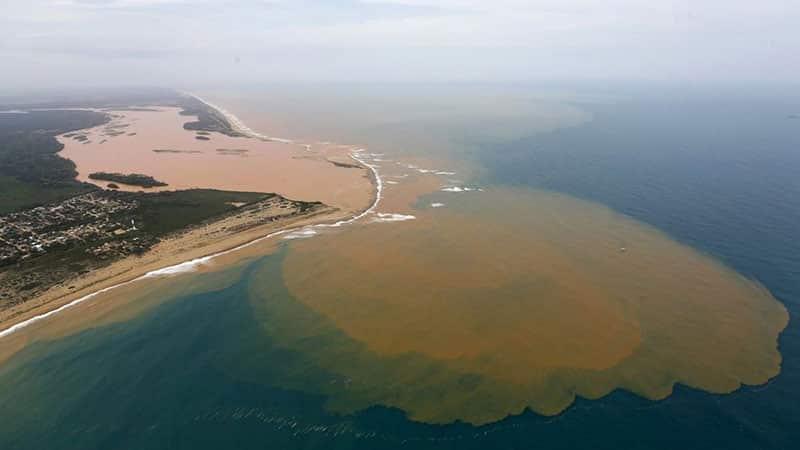 mar de lama do rio doce invade o mar