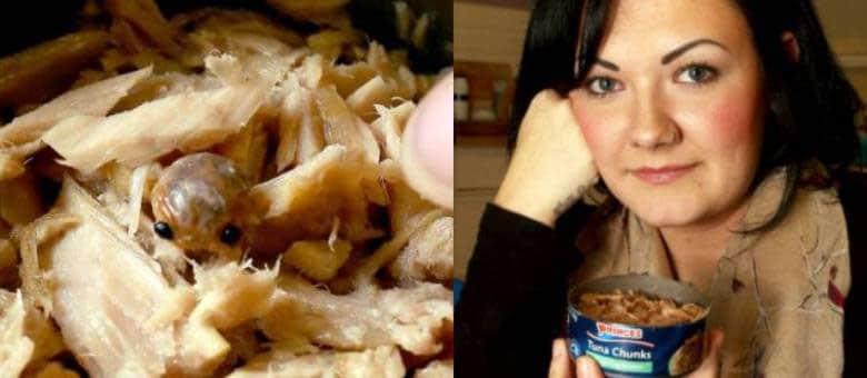 Consumidora achou Cymothoa exigua em uma lata de atum