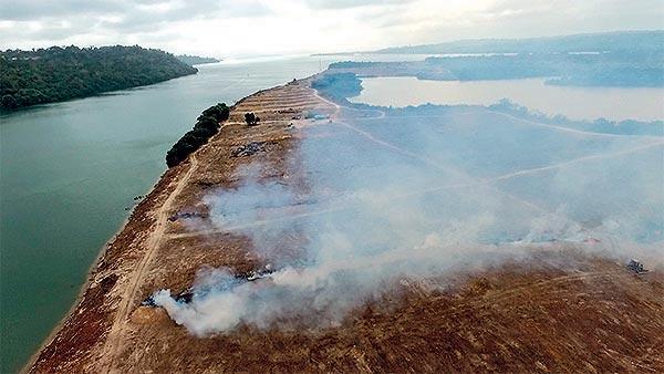 Ilha do Arapujá no Rio Xingu