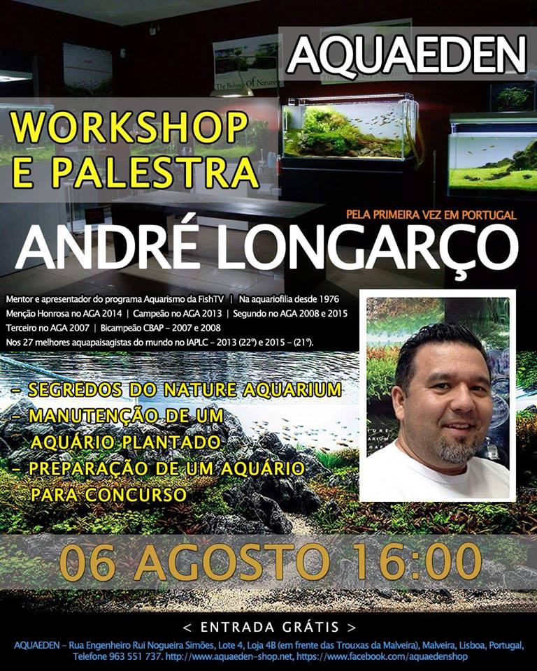 Workshop com André Longarço em Portugal