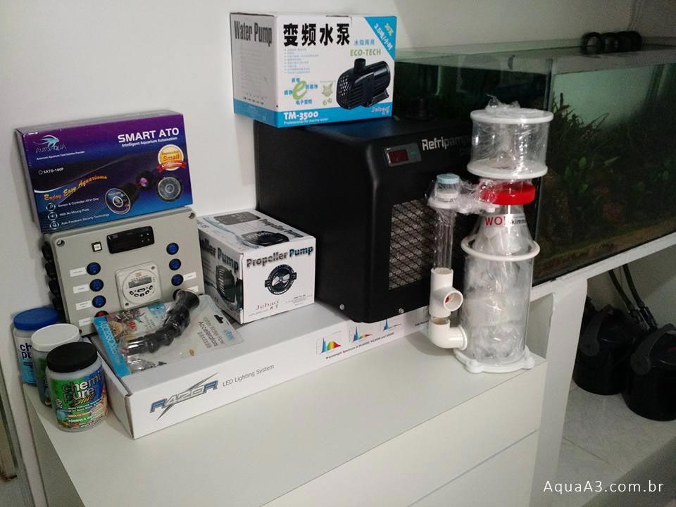 equipamentos para o aquário marinho