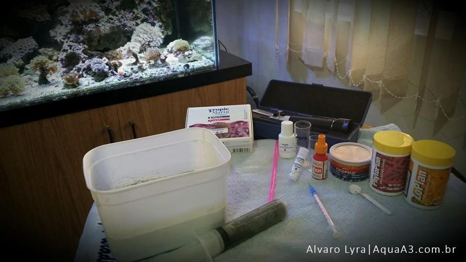 testes para o aquário marinho