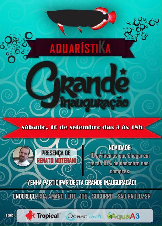 Inauguração da loja Aquaristika