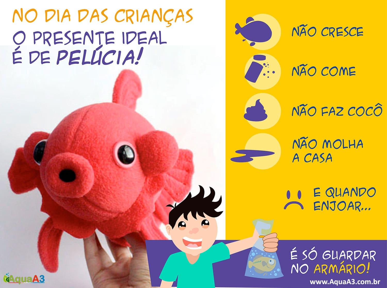 Dia das crianças: não presenteie com peixes ornamentais