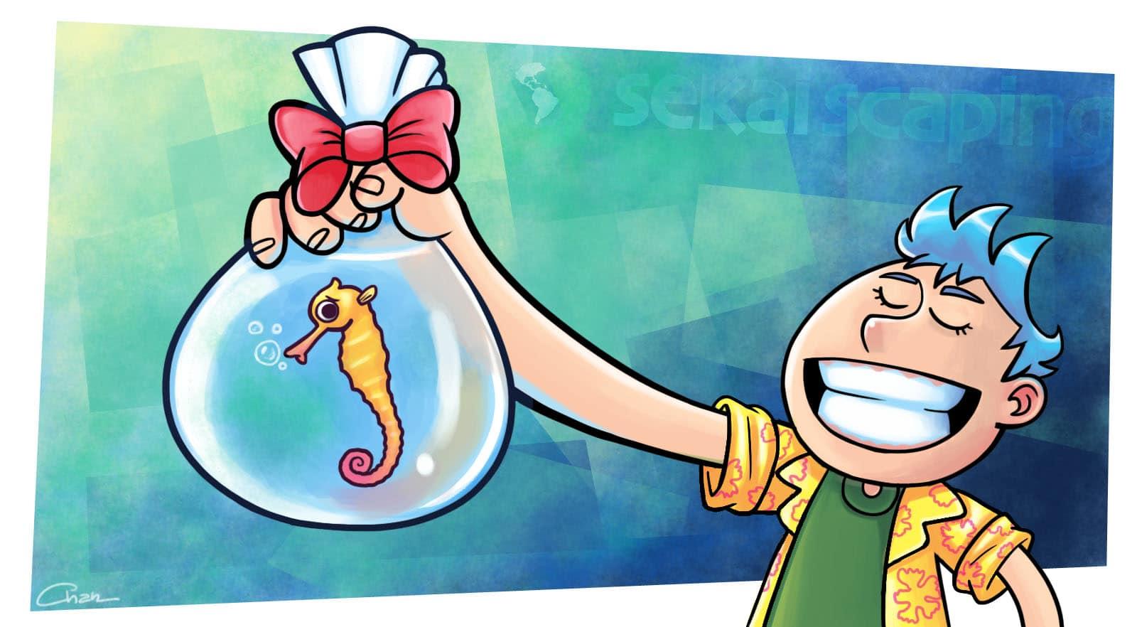 Presente de grego no aquarismo