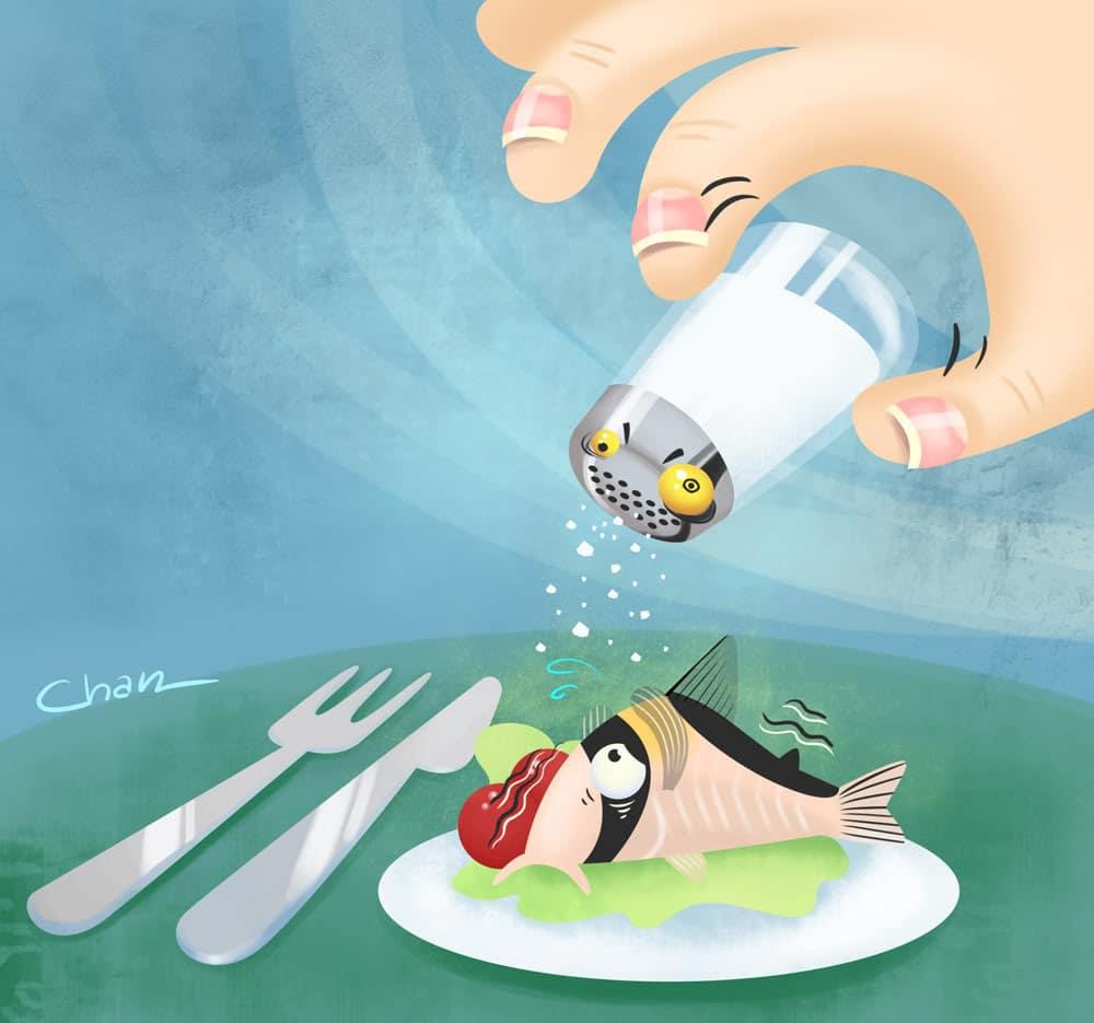 Sal em aquários evita doenças