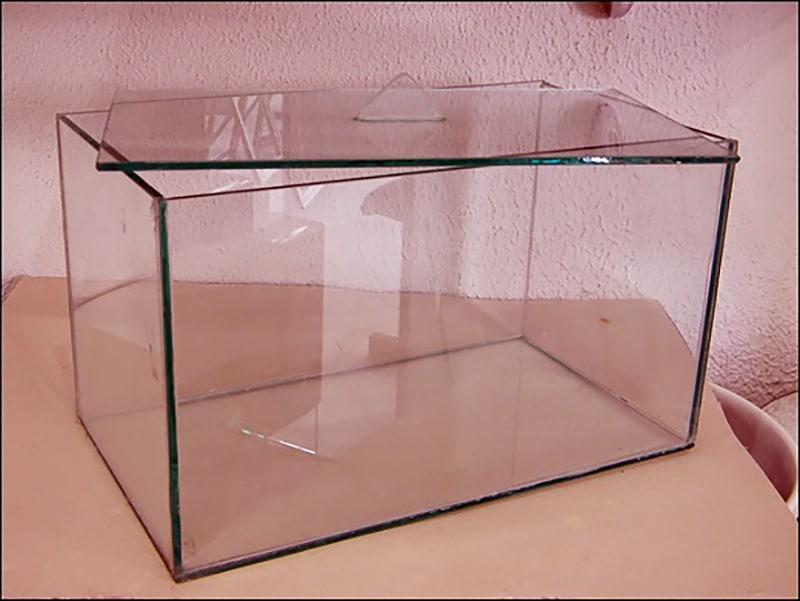 Tampa de vidro no aquário