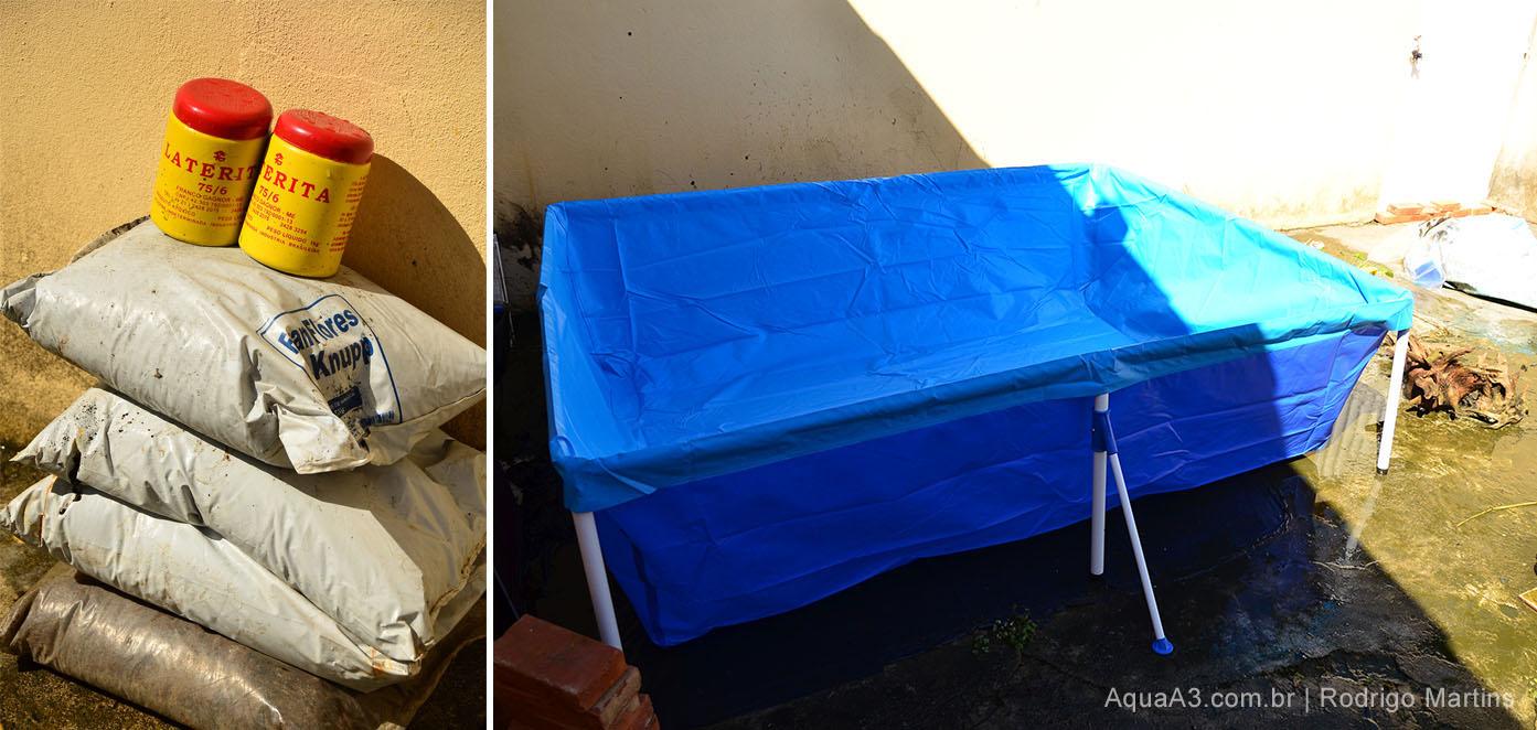 materiais para piscina lago