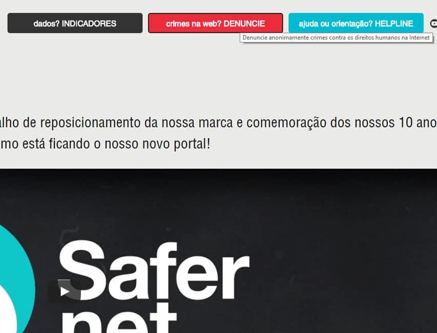 Como denunciar no Safernet