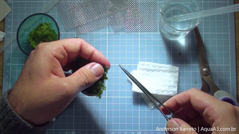 Corte as sobras de nylon