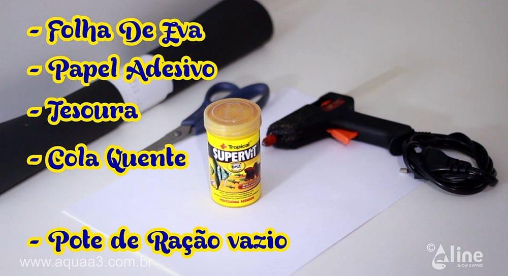 Reúna os materiais necessários para o porta canetas