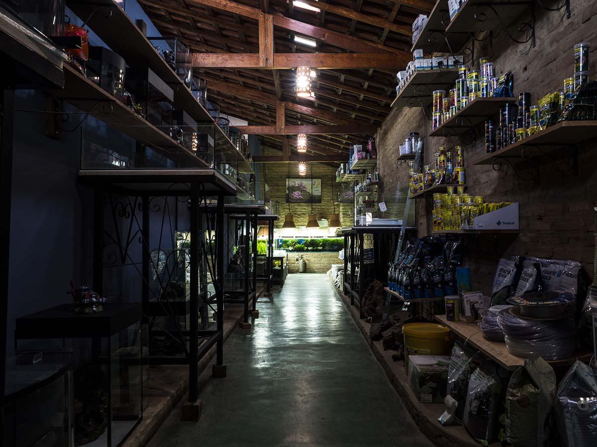 Dentro da loja loja Aquarius