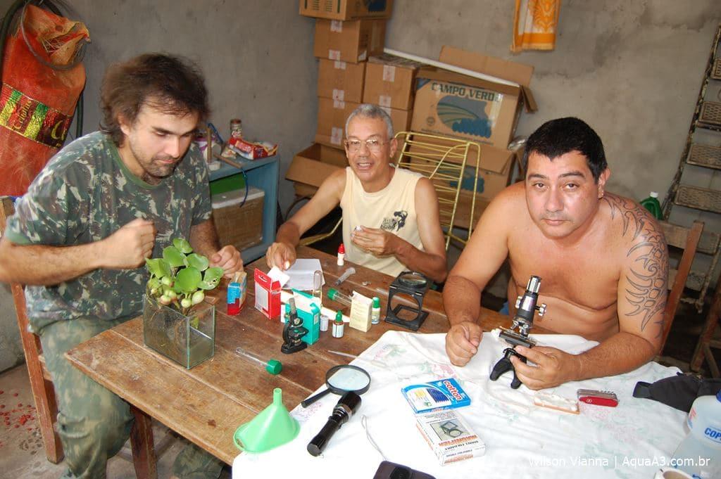 Equipe de pesquisadoresno Pantanal Mato-Grossense