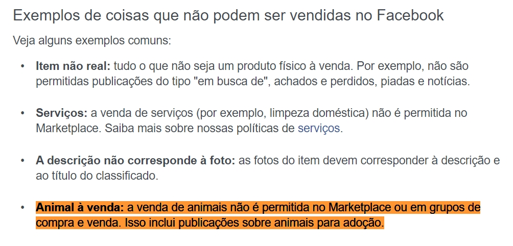 comercio ilegal de animais no facebook